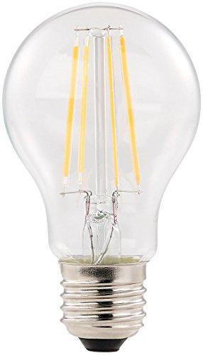 Luminea Bombilla de filamento: Lámpara de filamento led, E27, A++, 6 vatios, 806 lúmenes, 360 °, blanco cálido, A60 (Bombillas led E27 blanco cálido)