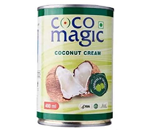 Coco Magic Kokosnuss-Creme 22 Prozent Fett 400 ml – Kokosnuss-Creme ist eine dicke und cremige Substanz aus geschredderter Kokosnuss.
