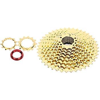 Alomejor Bike Freewheel 10 Speed 11-42T Bicycle Cassette Flywheel Mountain Bike Sprocket Freewheel Bicycle Accessory Gold