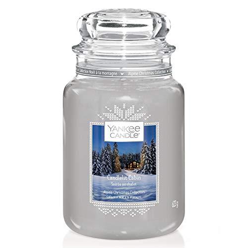 Yankee Candle bougie jarre parfumée, grande taille, Soirée au chalet, collection Noël alpin, jusqu'à 150heures de combustion