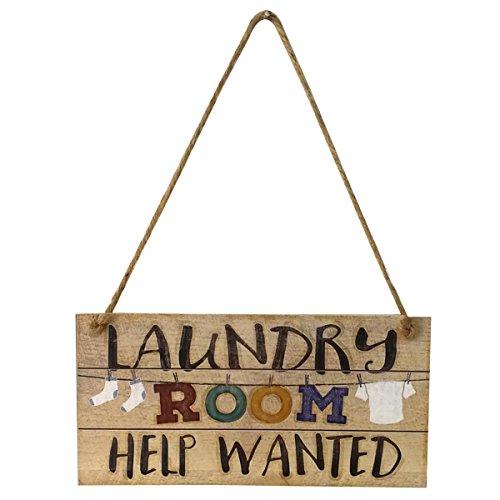 vorcool Wäsche Schild Shabby Chic Vintage Wall Laundry Room Wandschild Schild zum Aufhängen Türschild Decor Ornament
