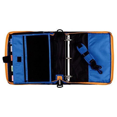 Five Star Zipper Binder, 2 Inch 3 Ring Binder, Expanding Pocket, Durable, Blue (73301) Photo #2