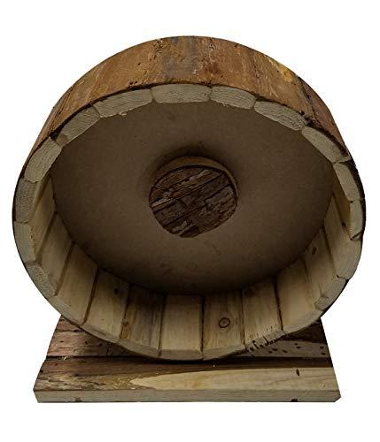 Dehner Nagerzubehör Holzlaufrad Shift, ca. 25 x 22 x 12 cm, Holz, natur