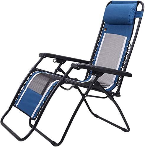 ZYLHC Las sillas sillón reclinable Plegable al Aire Libre de Malla de ventilación Silla de Oficina Silla de Playa Mujer Embarazada sillón balcón cómodo, Silla Plegable