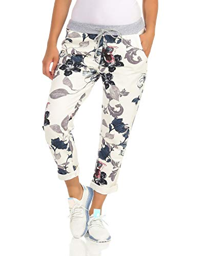 ZARMEXX Damen Sweatpants Baggy Boyfriend Sommerhose Sport All-Over Print One Size Muster 4 One Size (40-44)