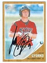 Autograph Warehouse 101108 Jedd Gyorko Autographed Baseball Card San Diego Padres Lake Elsinore Storm 2011 Topps Heritage Minor League No. 125 Rookie Card