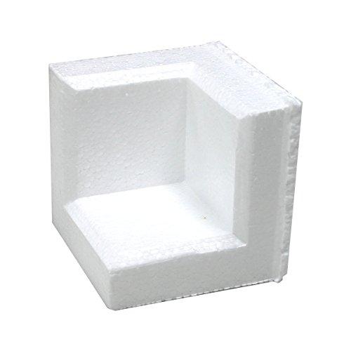 アースダンボール 緩衝材 角あて 発泡スチロール 梱包材 1袋(200個)【100×100×厚み20mm】【1034】