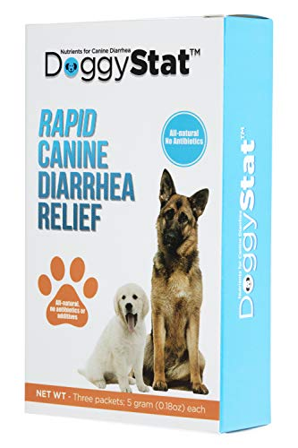 DoggyStat Dog Diarrhea Medicine - Fast-Acting Anti-Diarrhea Supplement for Dogs (3 Uses per Box) - Veterinarian Tested - More Effective Than Dog Probiotics - All Natural Diarrhea Relief for Dogs