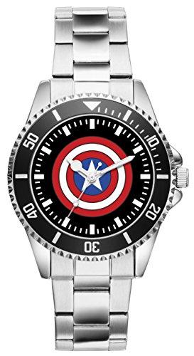 Captain America Geschenk Artikel Idee Fan Uhr 1663
