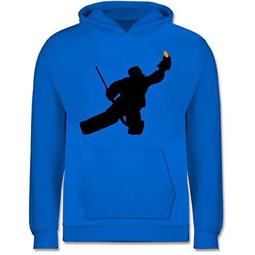 Sport Kind - Towart Eishockey Eishockeytorwart - 152 (12/13 Jahre) - Himmelblau - Eishockey Geschenke - JH001K JH001J Just Hoods Kids Hoodie - Kinder Hoodie