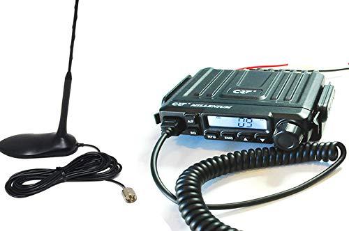 Emisora CB27 Ultra Mini CRT Millenium con Antena MAGNETICA