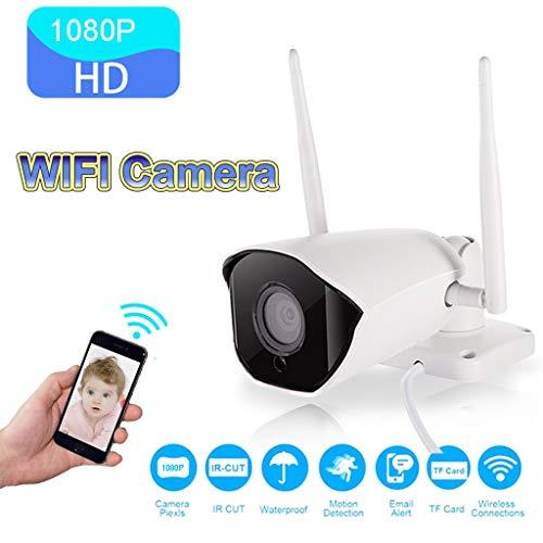 Überwachungskamera Aussen WLAN,WiFi 1080P HD Wasserdichte Sicherheit SD Karte IP Bullet Kamera IR Nachtsicht 2 Wege Audio Cloud Speicher für Onvif (EU)