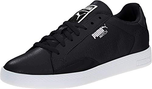 PUMA Women's Match Lo B And W Sportstyle Sneaker, Black, Size 8.5