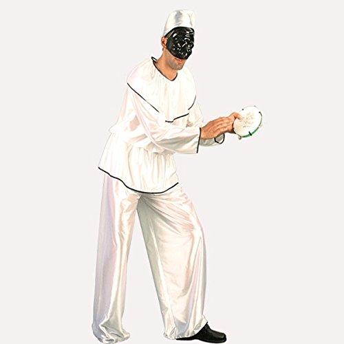 Pegasus Vestito Costume Maschera di Carnevale Adulti - PULCINELLA - Taglia XL - 52/54 Uomo