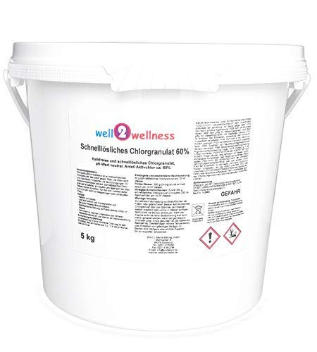 well2wellness Pool Chlor Granulat schnelllöslich mit 60% Aktivchlor 5,0 kg