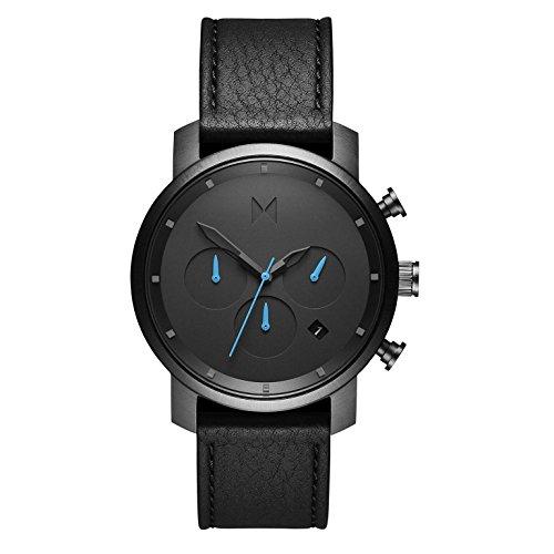 MVMT Herren Chronograph Quarz Uhr mit Leder Armband D-MC02-GUBL