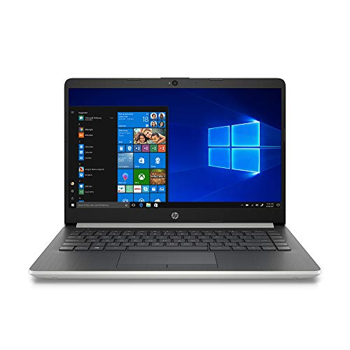 "2020 HP Laptop 14"", Intel Celeron N4000, Intel UHD Graphics 605, 4GB SDRAM, 64GB SSD, HDMI, WLED-Backlit, Win10, Natural Silver (Renewed)"