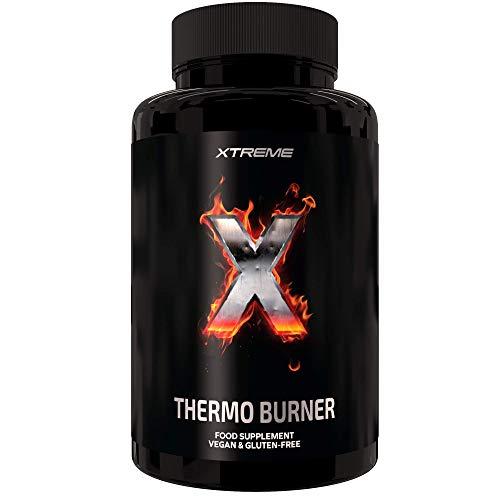 Xtreme Thermo Burner |Termogenico 100% Natural | 90 Pastillas Veganas | Te Verde + Maca + Garcinia + Guarana | Quemador de Grasa Para Keto Dieta y Perdida de Peso| Preservar los musculos |Certificado
