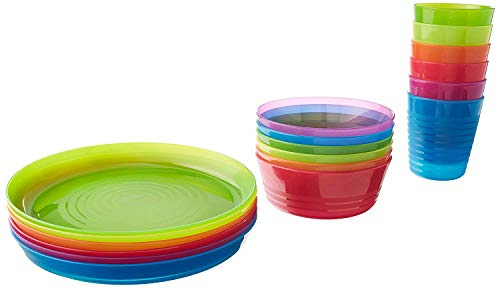 2 X IKEA - KALAS Children Color Bowl, Tumbler and Plate Sets X6 Each