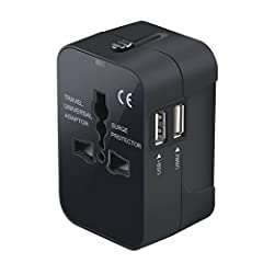This Travel Adapter with 4 international plug adapters. Cover more than 150 Countries with US/EU/UK/AU plugs, but this adapter cannot be used in South African, India, Swiss and Italy. Please kindly pay attention to avoid any inconvenience. This Charg...