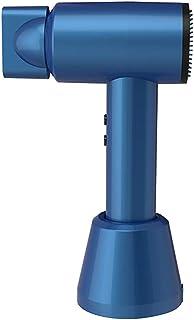 Secador de pelo inalámbrico, secador portátil inalámbrico, batería recargable de carga rápida 5000mAh con base de carga, 3 vientos calientes / 3 vientos fríos, para pintura artística,Royal blue