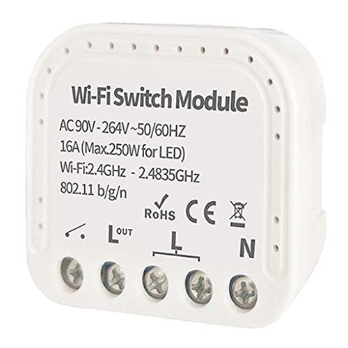 MERIGLARE Módulo de Interruptor de Luz de Relé WiFi Inalámbrico Inteligente para Compartir - EW