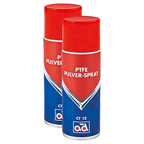 AD Chemie 2X PTFE-Spray Ct 12 400ml Trocken Spraydose Spray Teflon Auto PTFE Teflonspray Fett Druckluft Schmiermittel Kältespray Rostschutz Trockenschmierstoff 406051720