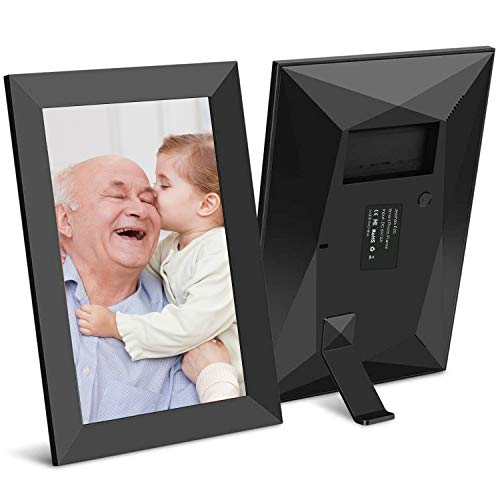 Jeemak Digital Picture Frame 7 inch WiFi Photo Frame with IPS Touch Screen Portrait or Landscape Stand Auto-Rotate Share Photos and Videos via App at Anytime and Anywhere