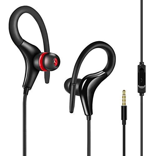 SunTop Sport Auricolari,In Ear Stereo Cuffie con microfono, Isolamento da rumori per iOS, Android, 3.5mm Jack
