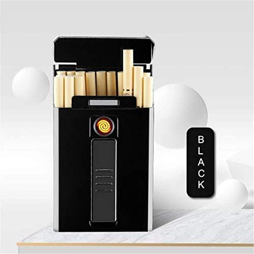 Yxp Zigarette Tragbaren USB-Handset-Bildschirm, DASS Lasten Ohne Elektronische Feuerzeug Winddicht Flamme Für Schwarze Frauen,Schwarz