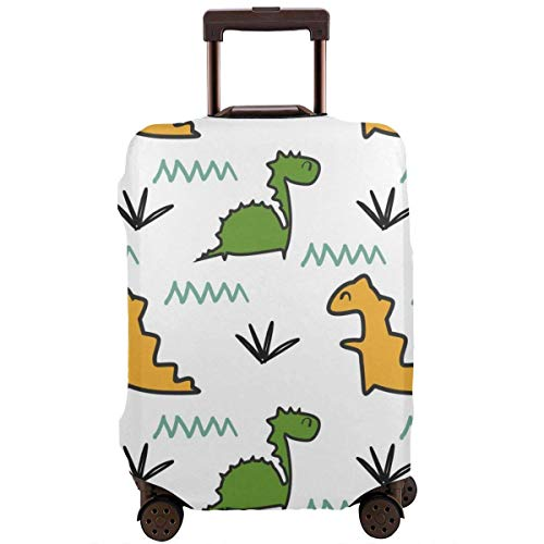 Luggage Cover Protector Dinosaur Seamless Colorful Fashion Suitcase Protective Cover,Suitcase Protective Cover,Scratch-Resistant,dust-Proof and Waterproof, Washable,Suitable for 18-32 inches