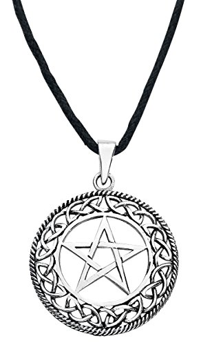 etNox magic and mystic Silver Pentagram Anhänger Standard