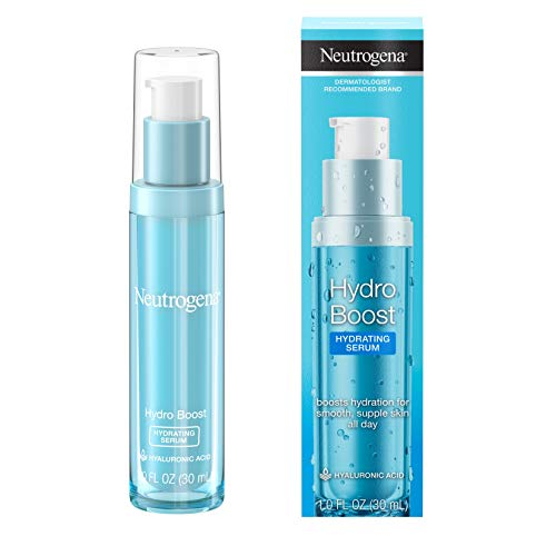 Neutrogena Hydro Boost Hydrating Hyaluronic Acid Serum, Oil-Free and Non-Comedogenic Face Serum Formula for Glowing Complexion, Oil-Free & Non-Comedogenic, 1 fl. oz
