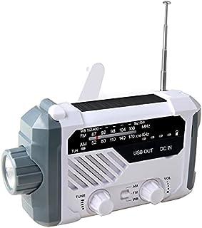 GJHK Radio Ondulée Solaire Portable, Lampe De Poche, Éclairage Domestique, Lumière De Secours De Camping en Plein Air (15....