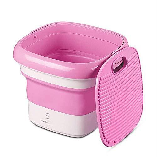 XHCP Tragbare Waschmaschine Faltbare Tragbare Waschmaschine, Mini-Halbautomatische Waschmaschine, Energiespar- und Umweltschutz Kleine Waschmaschine, Unterwäsche, Sockenwaschmaschine, Pink