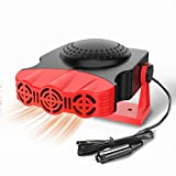Car Heater, Portable Electronic Auto Heater Fan Fast Heating Defrost 12V 150W Car Defrost Defogger,...