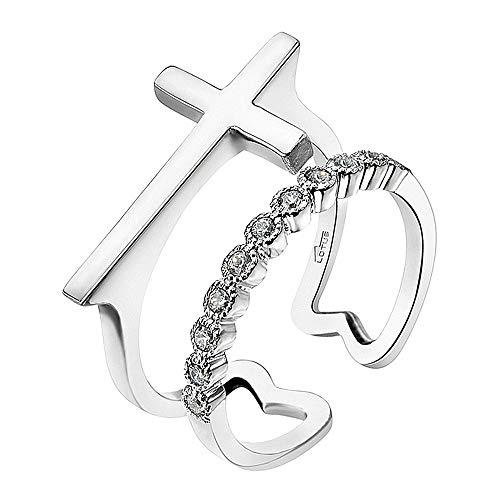 Lotus Silver LP1618-3/1 JLP1618-3-1 - Anillo de plata con circonita para mujer