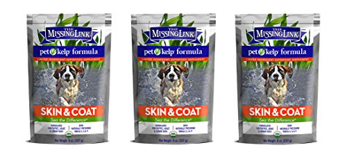 The Missing Link 3 Pack of Pet Kelp Formula, 8 Ounces Each, Superfood Supplement for Dogs, Skin and Coat