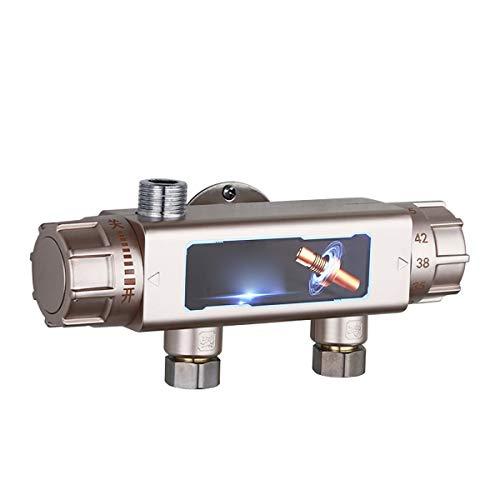 EVFIT Válvula termostática mezclador G 1/2 macho para sistema de ducha (color: dorado, tamaño: DN15)