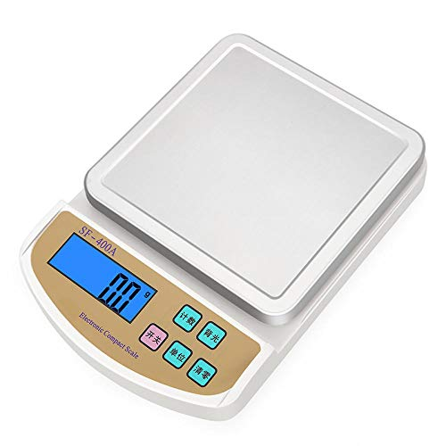 Balanza electrónica de cocina recargable 5 kg plataforma de pesaje electrónica báscula 0.1g horneado de alimentos báscula de gramo balanza balanza 5 kg / 1g + cable USB