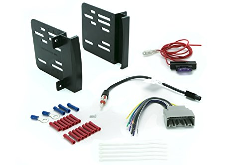 SCOSCHE ICCR6BN Aftermarket Car Stereo Complete Basic Installation Single DIN Dash Kit for 2007-14 Chrysler/Dodge/Jeep