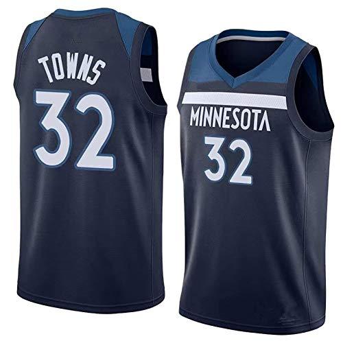 BCVDF Basketballuniformwesten für Männer und Frauen, Wolves # 32 Towns trainieren loyales Fantrikot M Blue