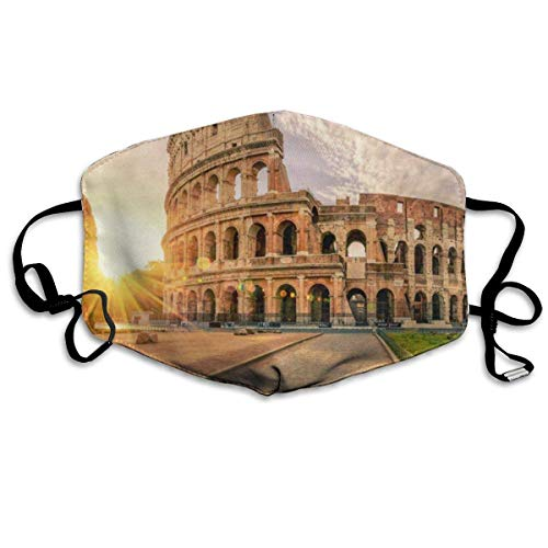 Face Mask Sunrise Rome Colosseum Unique Cycling Half Face Earloop Mouth Mask for Man