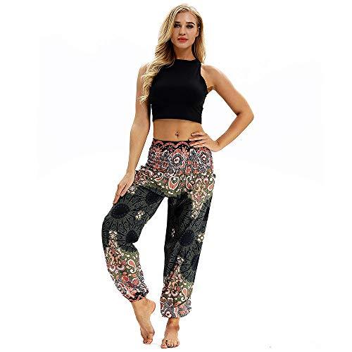 Pantaloni da Donna Harem Lunghi Estivi Ragazza alla Moda Pantaloni Yoga Jogging Sportivi Palestra Pantaloni Leggings, Abbigliamento Fitness Donna, Modaworld