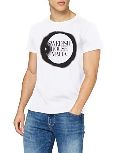 MERCHCODE Swedish House Mafia T-Shirt pour Homme avec Logo imprimé XXL Blanc