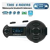 QSPORTPEAK T20S Moto Bluetooth Interfono per Casco Interfono, full duplex Interphone per moto senza...