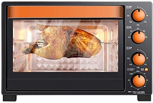 Rindasr Toaster oven,Retro Style Countertop Microwave Oven Position-Memory Turntable,Eco Mode,and Sound On/Off