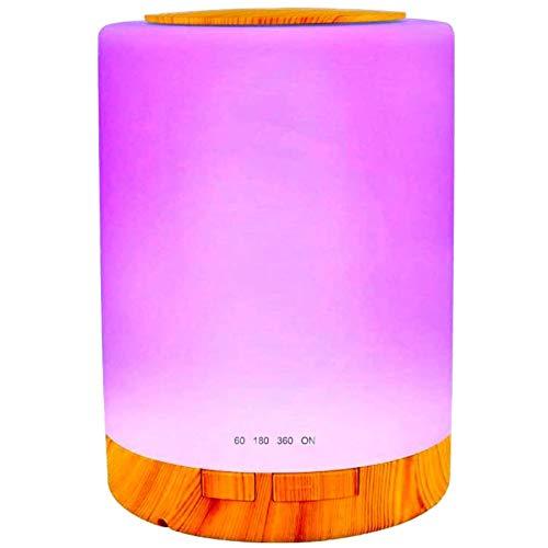 Aroma Diffuser 100ML Ätherisches Öl Diffuser Glas Muster mit 4 Zeiteinstellung & 7 Farbwechsel LED Luftbefeuchter Humidifier für Hause Büro SPA und Schlafzimmer (Mehrfarbig 1)