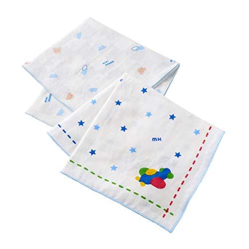 ミキハウス (MIKIHOUSE) ガーゼハンカチセット 46-8337-384 ブルー 男の子 ベビー キッズ 赤ちゃん 子供