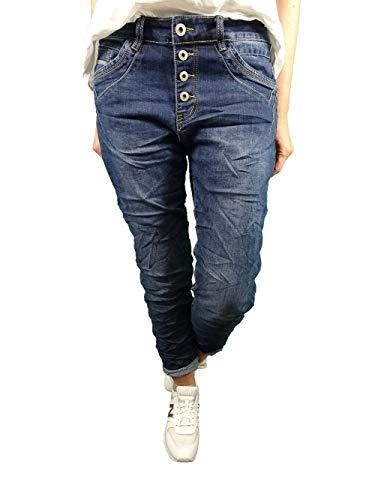 Karostar by Lexxury Denim Stretch Baggy-Boyfriend Jeans Boyfriend 4 bottoni aperti jeans XXL